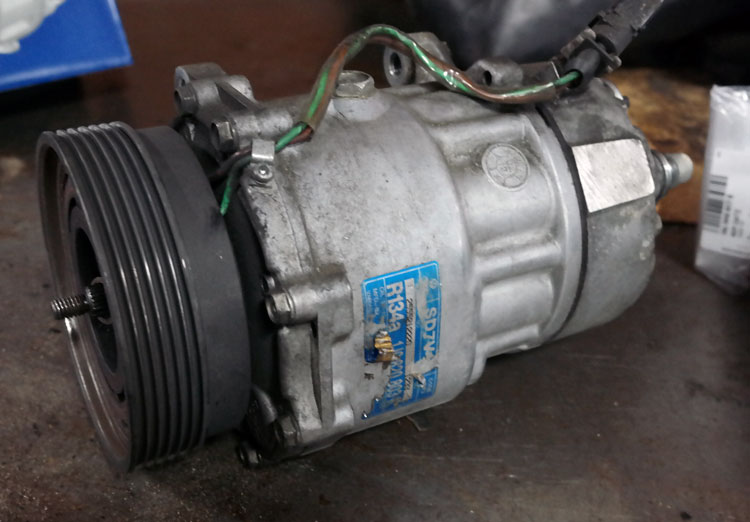 vw golf tdi ac compressor failure repair eurowise