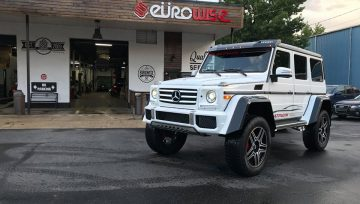 Eurowise's performance G550 4x4 squared exhaust!